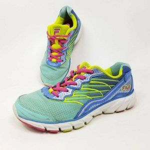 Fila Womens Size 5 Athletic Running Shoes Blue